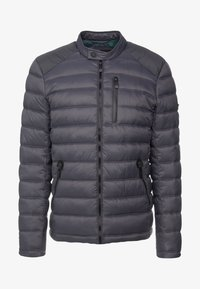 Superdry - COMMUTER QUILTED BIKER - Light jacket - iron gate - 4