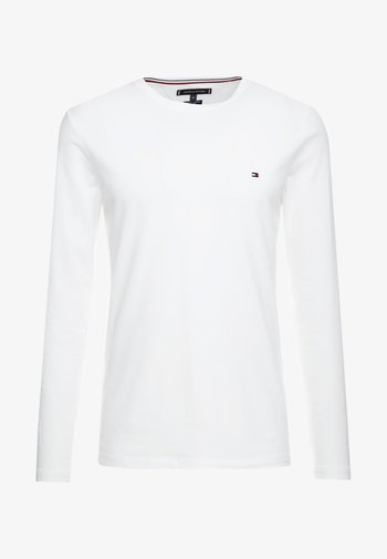 STRETCH LONG SLEEVE TEE - Long sleeved top - white