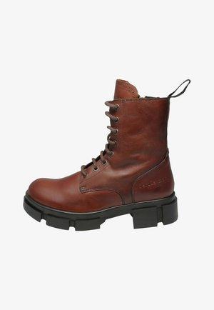 AMBER  - Platform ankle boots - tan