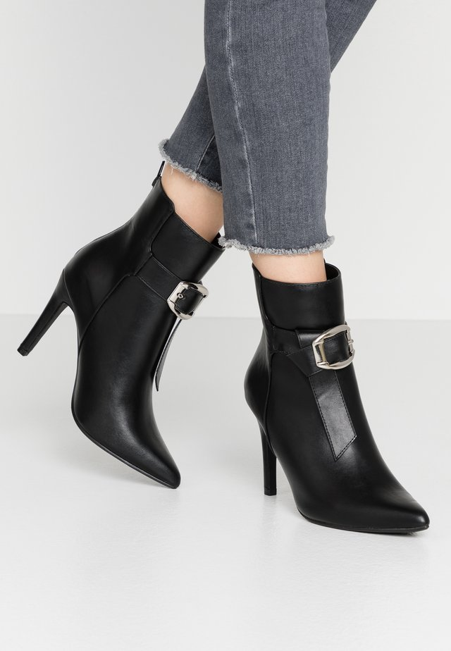 MILANA - High heeled ankle boots - black