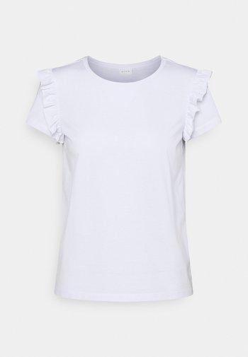 VIDREAMERS FRILL PETITE - Print T-shirt - optical snow