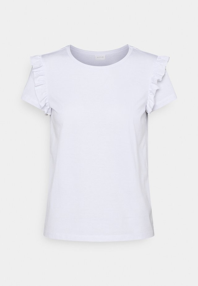 VIDREAMERS FRILL PETITE - T-shirt con stampa - optical snow