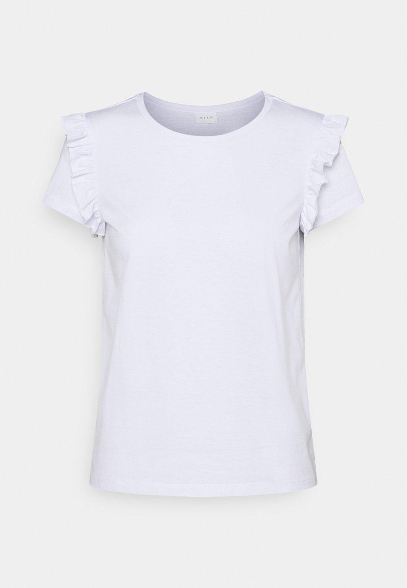 VILA PETITE - VIDREAMERS FRILL PETITE - Print T-shirt - optical snow