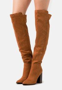 Even&Odd - High heeled boots - cognac - 0