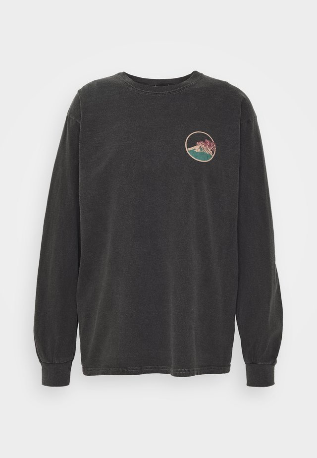 SKATE GRAPHIC TEE - Long sleeved top - washed black