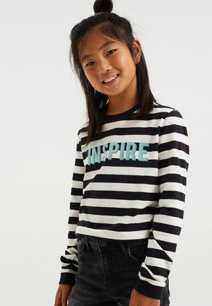 Long sleeved top - black white