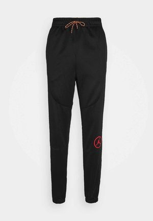 PANT - Tracksuit bottoms - black/chile red