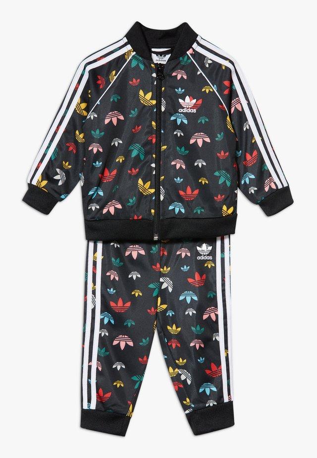 SET - veste en sweat zippée - black/multicolour