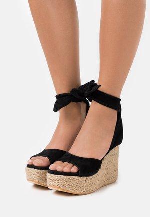 OPALE - Sandály na vysokém podpatku - nero