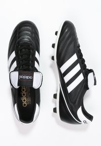 adidas Performance - KAISER 5 LEATHER FOOTBALL BOOTS FIRM GROUND - Voetbalschoenen met kunststof noppen - black/running white/rot - 1
