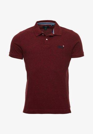 Poloshirt - rich red grit