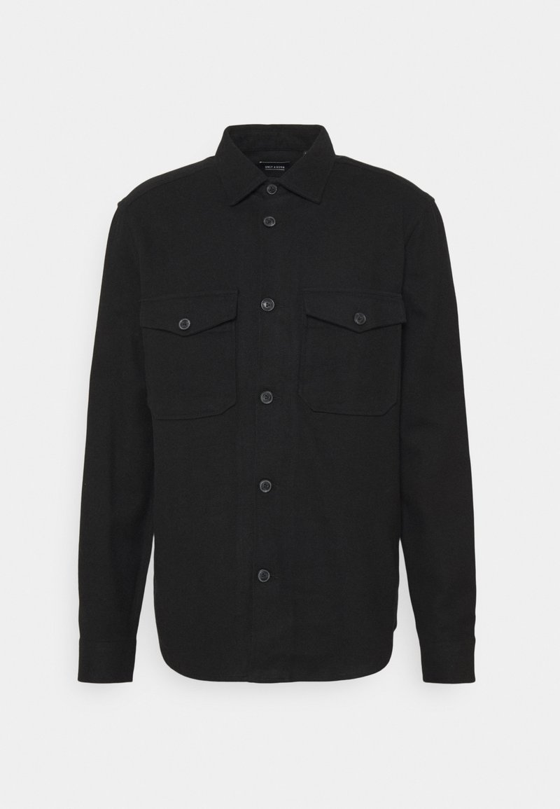 Only & Sons - ONSMILO LIFE SOLID OVERSHIRT - Camisa - black