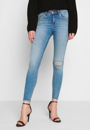 ONLBLUSH MID RAW PIPE ANA - Jeans Skinny Fit - medium blue denim