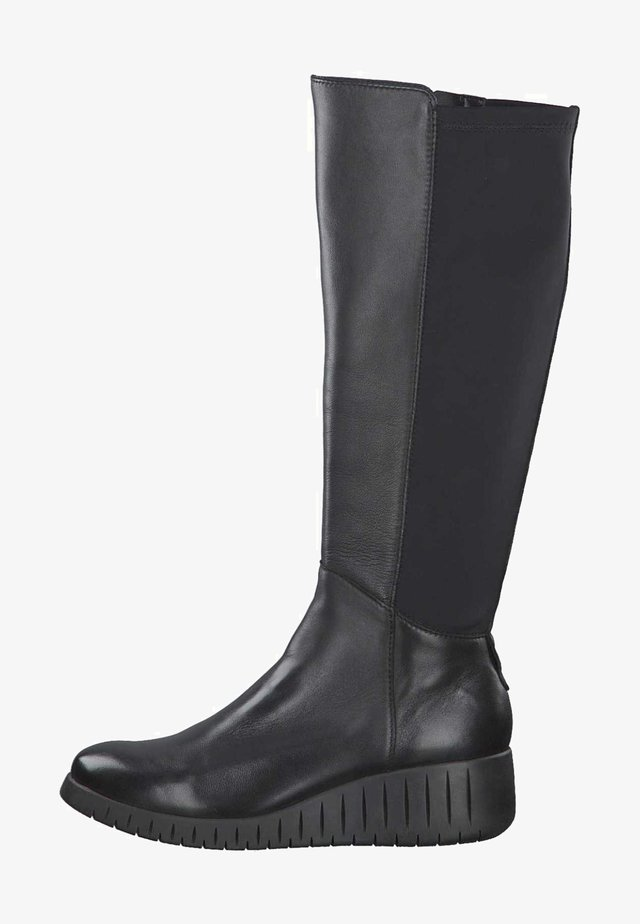 Wedge boots - black ant.comb 096