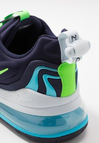 Nike Sportswear - AIR MAX 270 REACT ENG - Sneakers - blackened blue/green strike/pure platinum/team royal/blue fury/aura - 5