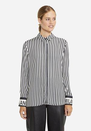 Button-down blouse - black print