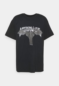 OF DEATH OVERSIZED - Print T-shirt - washed black