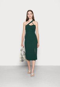 WAL G. - SAVANAH HALTER NECK MIDI DRESS - Jersey dress - forest green - 1