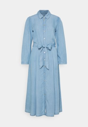 ONLMARY LONG BELT DRESS TALL - Denimové šaty - light blue denim
