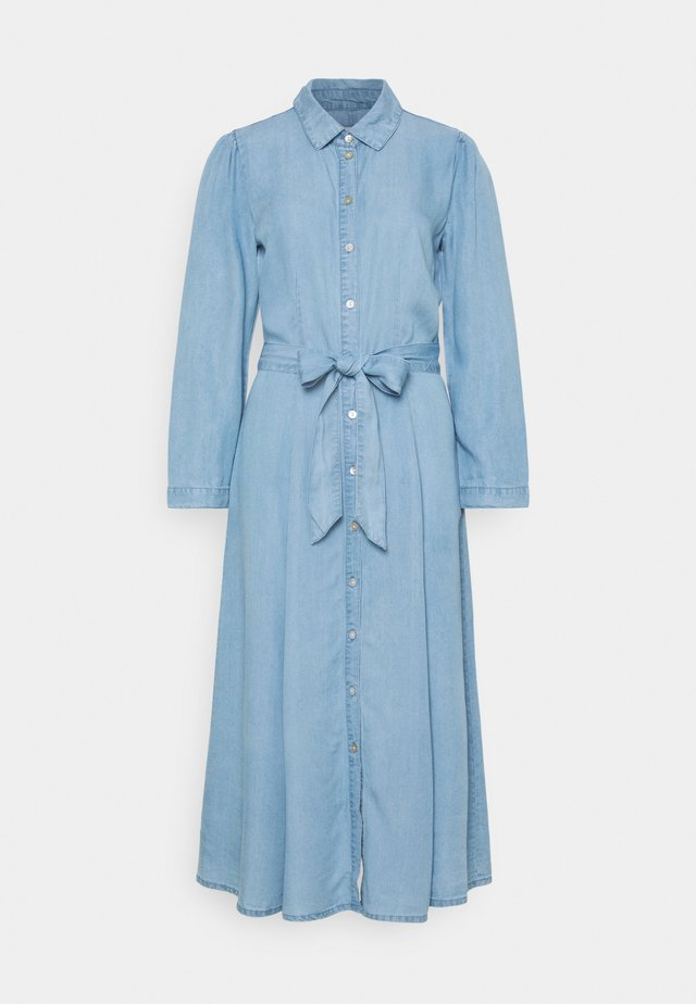 ONLMARY LONG BELT DRESS TALL - Robe en jean - light blue denim