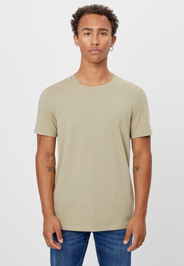MIT RUNDAUSSCHNITT - T-shirt basique - khaki