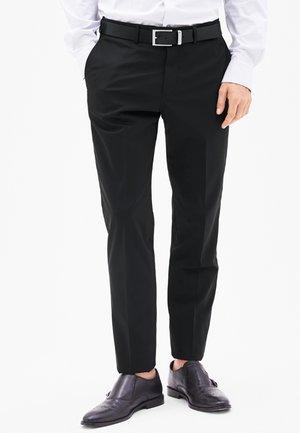 COSIMO SLIM - Suit trousers - black
