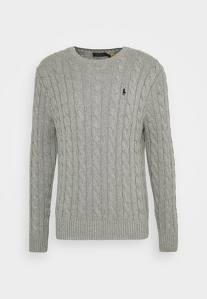 CABLE - Jumper - fawn grey heather