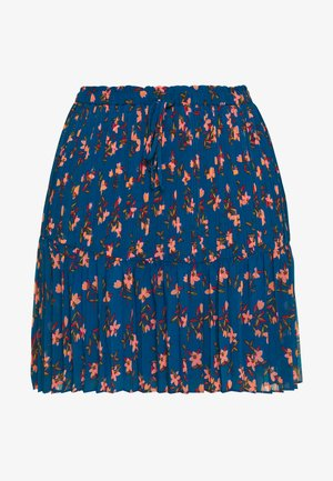 PRINTED SKIRT WITH PLEATS - A-lijn rok - blue/pink