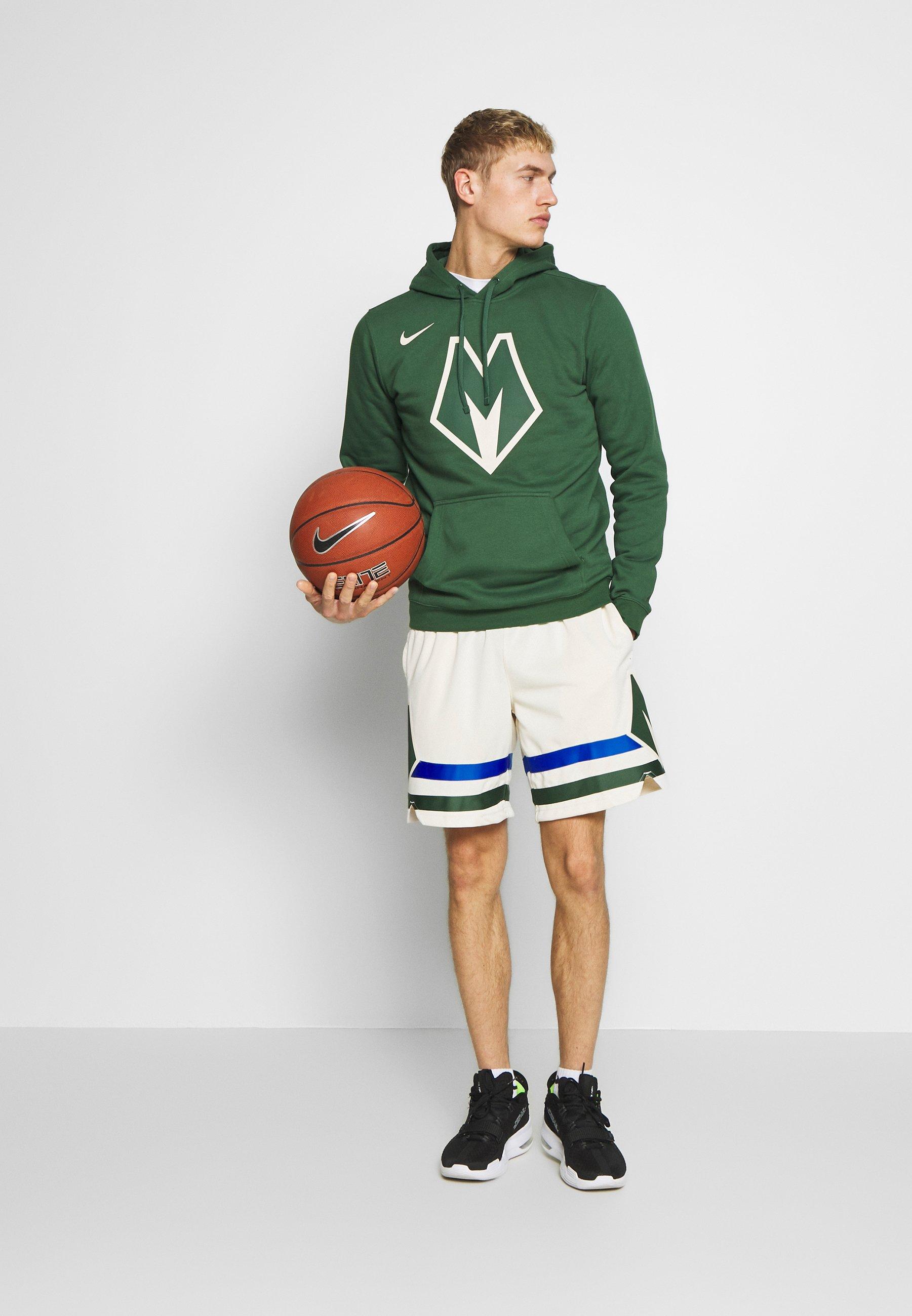 Nike Performance NBA MILWAUKEE BUCKS CITY EDITION LOGO - Sweat à capuche - fir