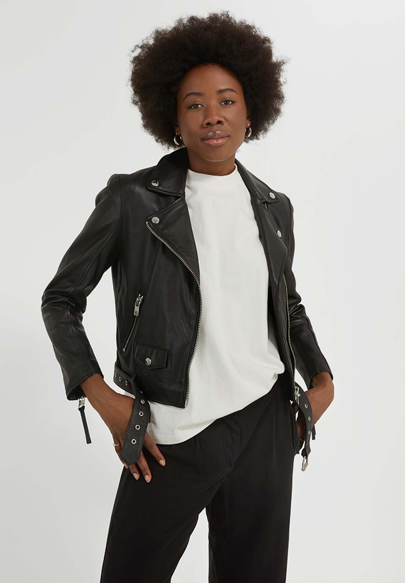 Femme BIKER EMMA SOFT - Veste en cuir