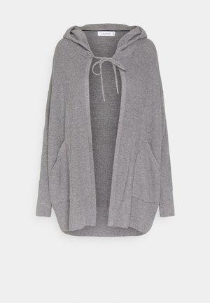 HOODED - Cardigan - mid grey heather