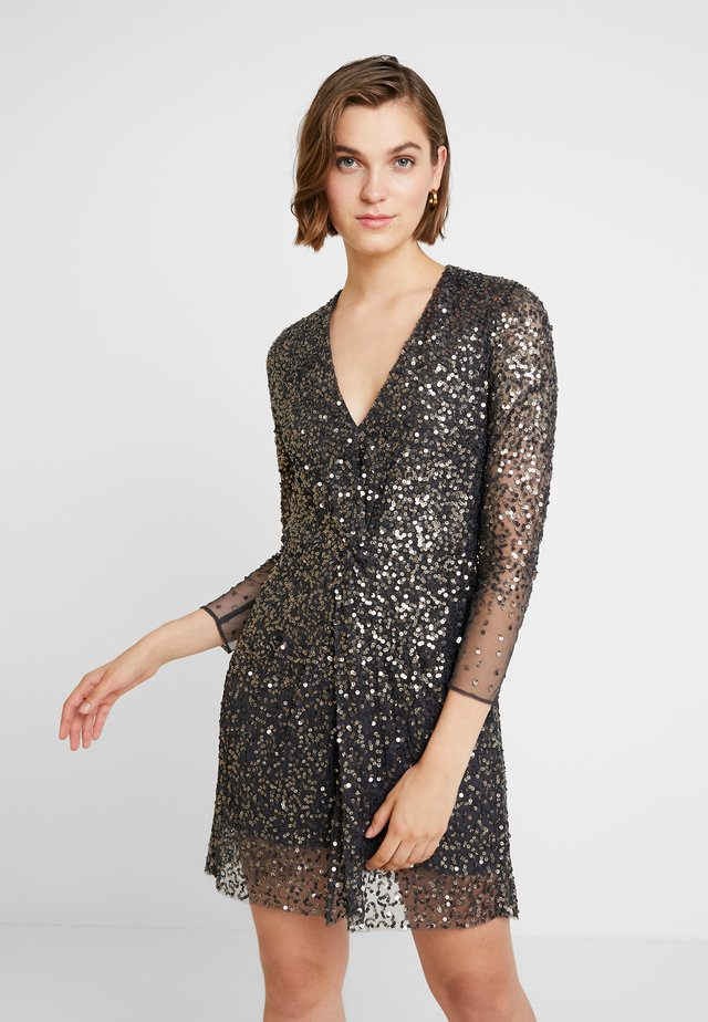 EMILLE SPARKLE SHORT DRESS - Cocktail dress / Party dress - pewter