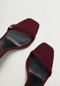 Mango - High heeled sandals - weinrot - 5