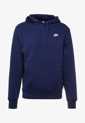 CLUB HOODIE - Huppari - midnight navy/white