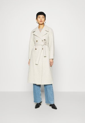 DOUBLE BREASTED MAXI WRAP COAT - Cappotto classico - ivory