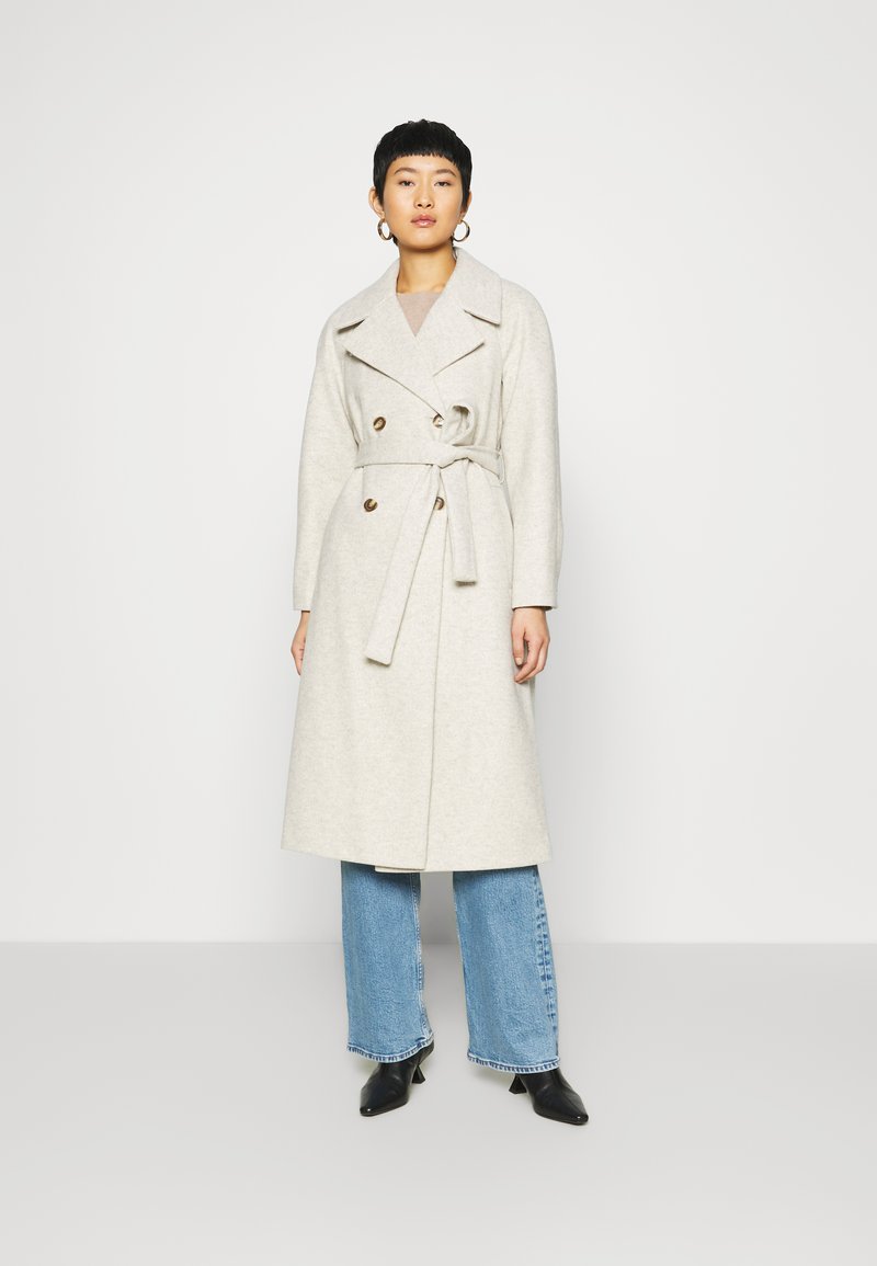 Dorothy Perkins - DOUBLE BREASTED MAXI WRAP COAT - Cappotto classico - ivory