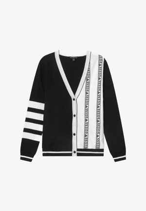 JUNIOR - Chaqueta de punto - black/white