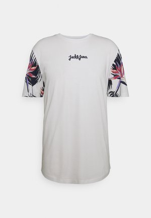 JORSUNDAY TEE CREW NECK - Print T-shirt - cloud dancer