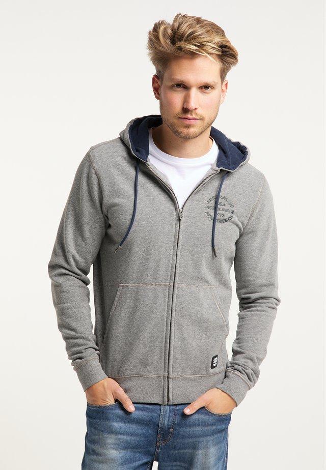 veste en sweat zippée - light slate melee
