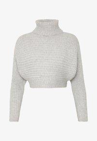 New Look Petite - CROPPED ROLL NECK - Strikkegenser - light grey - 4