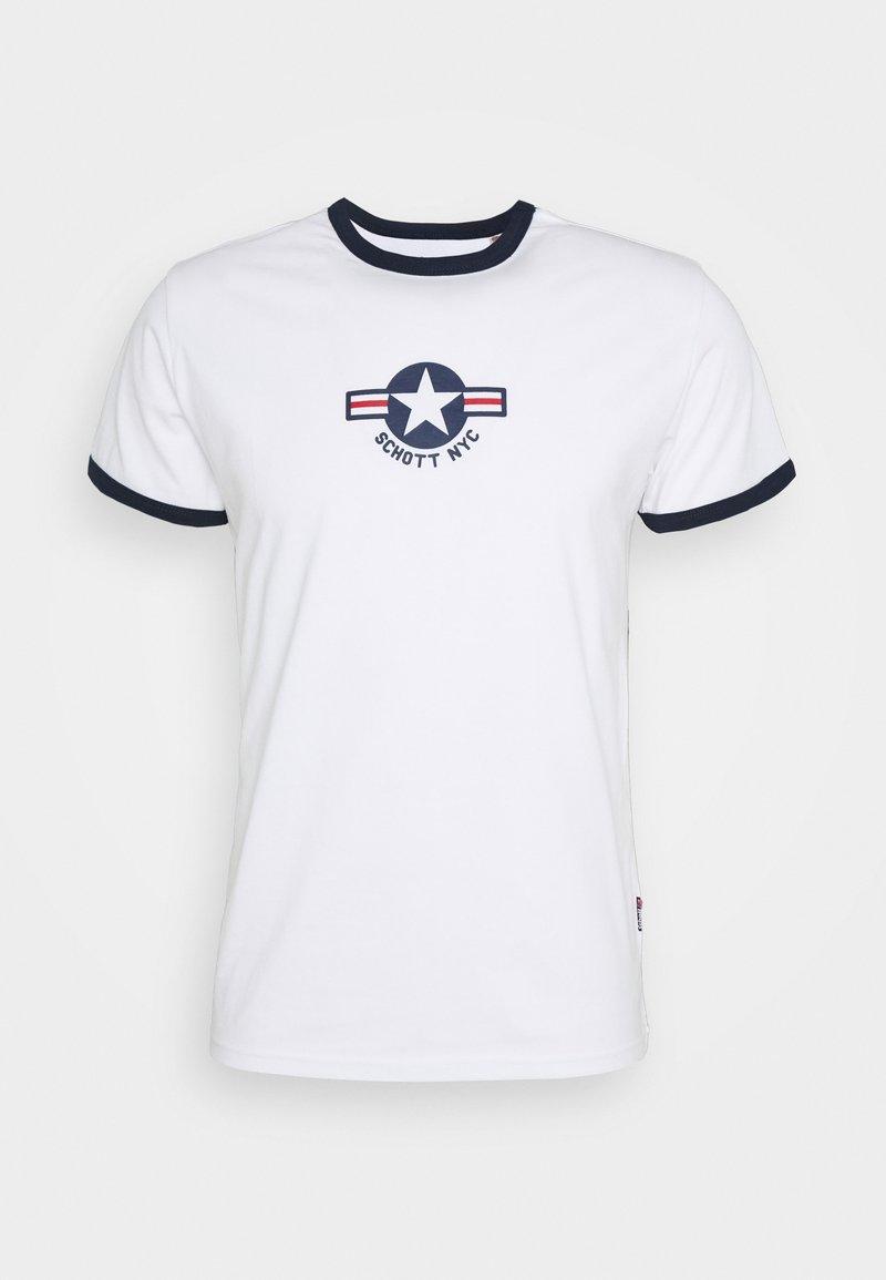 Schott - TSRANKS - Print T-shirt - white