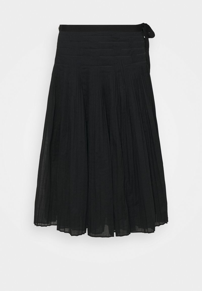 Tory Burch - PLEATED TIE WRAP SKIRT - A-linjainen hame - black