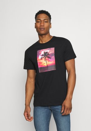 TEE SPRING PHOTO - Print T-shirt - black