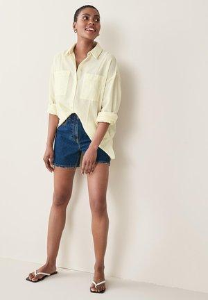 SPLICED STRIPE - Button-down blouse - yellow