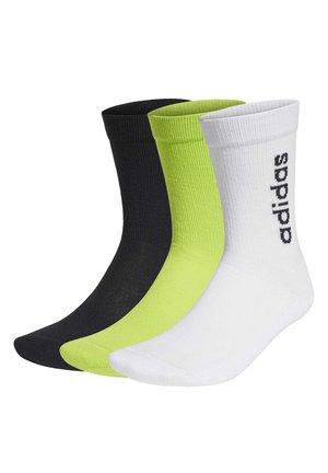 HALF-CUSHIONED VERTICAL CREW SOCKS 3 PAIRS - Socks - white