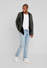Lindbergh - BIKER JACKET - Leather jacket - grey - 1
