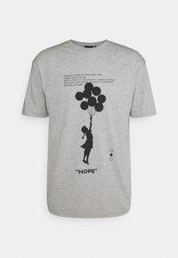 Nominal - BANKSY HOPE - T-shirt imprimé - grey marl - 5
