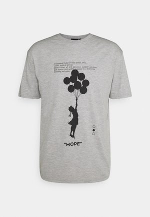 BANKSY HOPE - T-shirt med print - grey marl