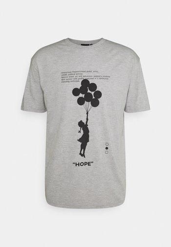 BANKSY HOPE - Camiseta estampada - grey marl