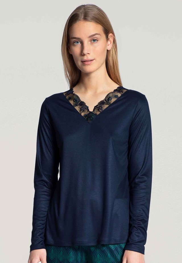 Long sleeved top - twilight blue